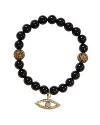 CB Bronfman | Black Onyx Diamond Bead Bracelet | Lyst