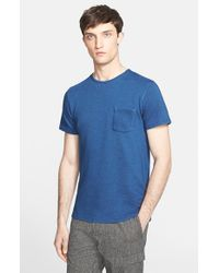 Norse Projects - Blue 'Niels' French Terry Pocket T-Shirt for Men - Lyst