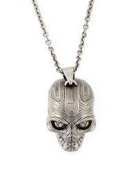 Alexander McQueen - Metallic Skull Pendant Necklace for Men - Lyst