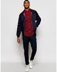 ASOS - Smart Shirt In Red With Button Down Collar And Long Sleeve for Men - Lyst
