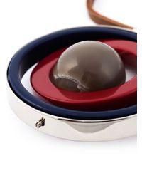 Marni - Black Circular Pendant Necklace - Lyst