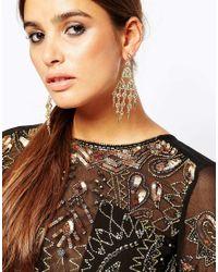 ASOS - Metallic Occasion Drop Earrings - Lyst