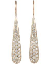 Roberto Marroni | Metallic Diamond, White Gold & Pink Gold Teardrop Earrings | Lyst