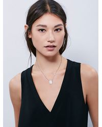 Free People | Metallic Lucky Star Womens Mini Id Tag Necklace | Lyst