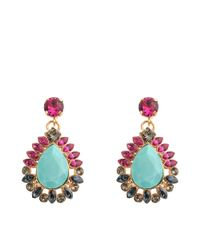 Anton Heunis - Blue Turquoise Zulu Goddess Earrings - Lyst