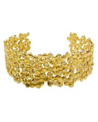 Natasha Collis | Metallic 18kt Dripped Gold Diamond Cuff | Lyst