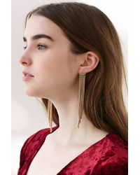 Urban Outfitters | Metallic Sylvia Chain Front/back Earring | Lyst