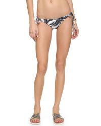 Mikoh Swimwear - Black Venice Bikini Bottoms - Polynesian Palm - Lyst