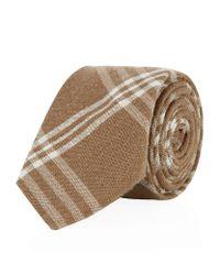 Hackett - Natural Mayfair Plaid Silk Tie for Men - Lyst