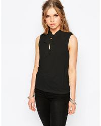First & I - Black Pussy Bow Top - Lyst