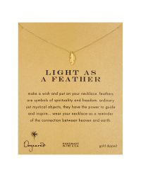 Dogeared | Metallic Light As A Feather Reminder Necklace | Lyst