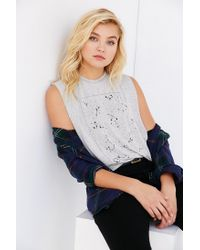 Truly Madly Deeply | Gray Constellations Muscle Tee | Lyst