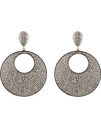 Carole Shashona | Metallic Moon Reflective Earrings | Lyst