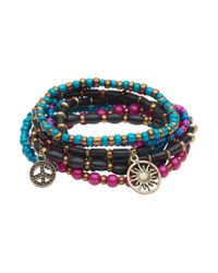 Aéropostale | Multicolor Boho Beaded Stretch Bracelet 8-pack | Lyst