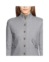 Ralph Lauren - Gray French Terry Long Sleeve Top - Lyst