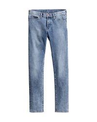 H&M - Blue Slim Low Jeans for Men - Lyst