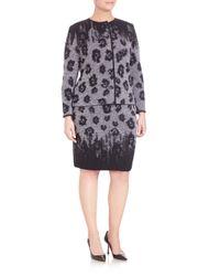 Stizzoli - Black Knit Animal-print Skirt - Lyst