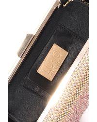 Liu Jo | Metallic 'unicorno' Clutch Bag With Strass | Lyst