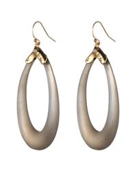 Alexis Bittar - Gray Liquid Metal Cap Soft Link Wire Earring - Lyst