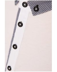 BOSS Orange | White Polo Shirt 'palisado' With Contrasting Trim for Men | Lyst