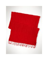 Polo Ralph Lauren - Red Crinkled Cotton Scarf for Men - Lyst