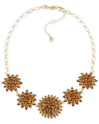 Carolee | Gold-tone Brown Crystal Necklace | Lyst