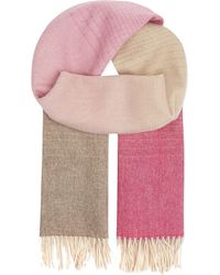 Paul Smith Black Label | Pink Fading Lambswool Scarf | Lyst