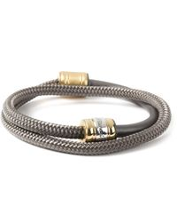 Miansai | Gray Solid Charcoal Half-rope Bracelet for Men | Lyst