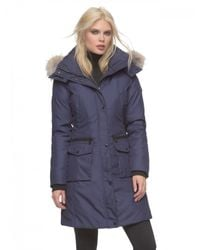 Andrew Marc | Blue Jamie Quilted Down Jacket  | Lyst