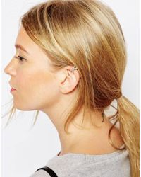 ASOS | Pink Limited Edition Pave Kiss Ear Cuff | Lyst
