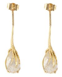 Wouters & Hendrix | Metallic Crow's Claw Rutilated Quartz Earrings | Lyst