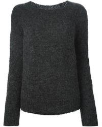 Nili Lotan - Gray Crew Neck Sweater - Lyst