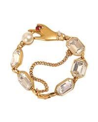 Marc Jacobs - Multicolor Hand Crystal Bracelet - Lyst