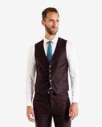 Ted Baker | Purple Debonair Wool Waistcoat for Men | Lyst