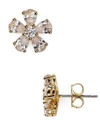 Nadri | Metallic Flower Stud Earrings | Lyst