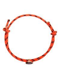 Dezso by Sara Beltran - Orange Bungee Cord Bracelet with Tanzanite Stone - Lyst