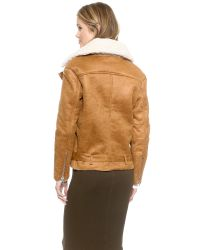 Glamorous - Faux Shearling Jacket - Brown - Lyst
