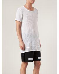 4c1561367373 Lyst - Off-White c o Virgil Abloh Open Knit T-shirt in White for Men