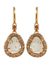 Sharon Khazzam | Pink Women's Brown Diamond Slice Earrings | Lyst