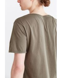 BDG - Green Standard-fit Pigment-dyed Wide Neck Tee for Men - Lyst