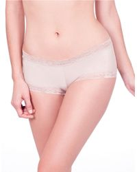 Natori | Brown Bliss Smooth Girl Short Panty | Lyst