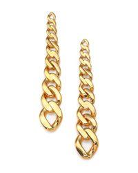 Ca&Lou - Metallic Charlotte Chain Drop Earrings - Lyst