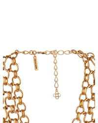 Oscar de la Renta - Metallic Twisted-Rope Necklace - Lyst