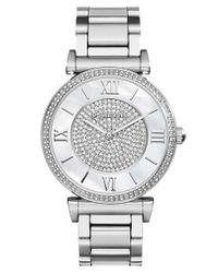 MICHAEL Michael Kors | Metallic Michael Kors 'caitlin' Crystal Dial Bracelet Watch | Lyst