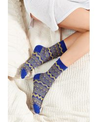 Urban Outfitters | Blue Multicolor Pattern Crew Sock | Lyst