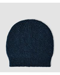 AllSaints - Blue Montall Beanie Hat for Men - Lyst