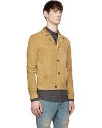 Saint Laurent - Natural Honey Beige Suede Jacket for Men - Lyst