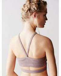 Free People | Purple Wishbone Bra | Lyst