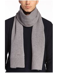 BOSS Orange | Gray Scarf 'katapon' In New Wool for Men | Lyst