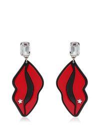 Stella McCartney | Multicolor Star & Lips Perspex Earrings | Lyst